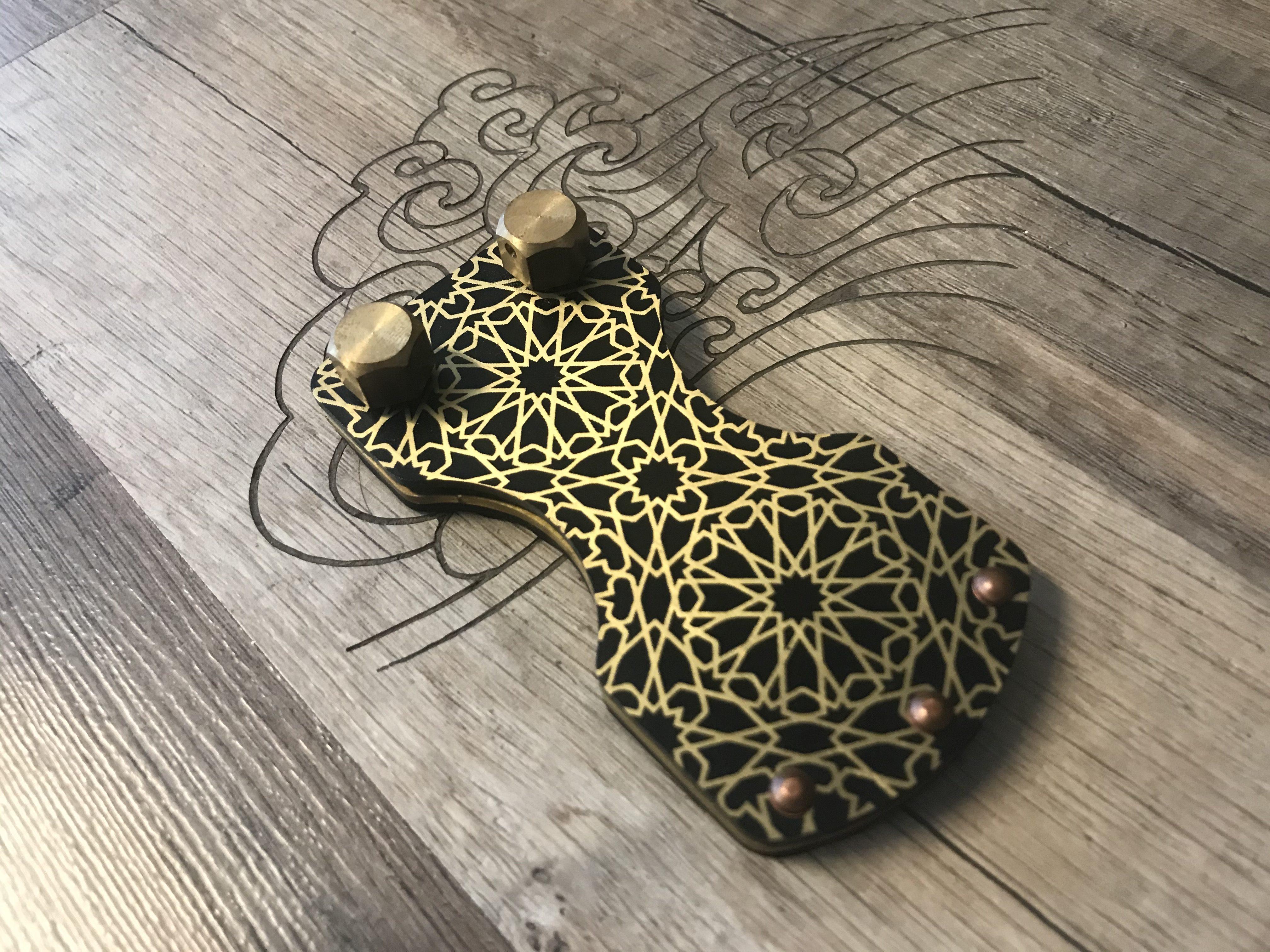 Nazari Pattern Brass Footswitch