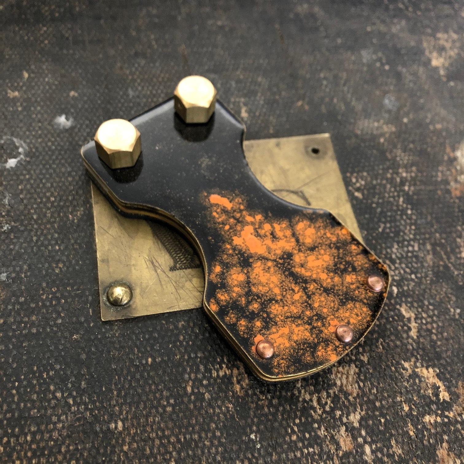 Custom Epoxy Brass Footswitch