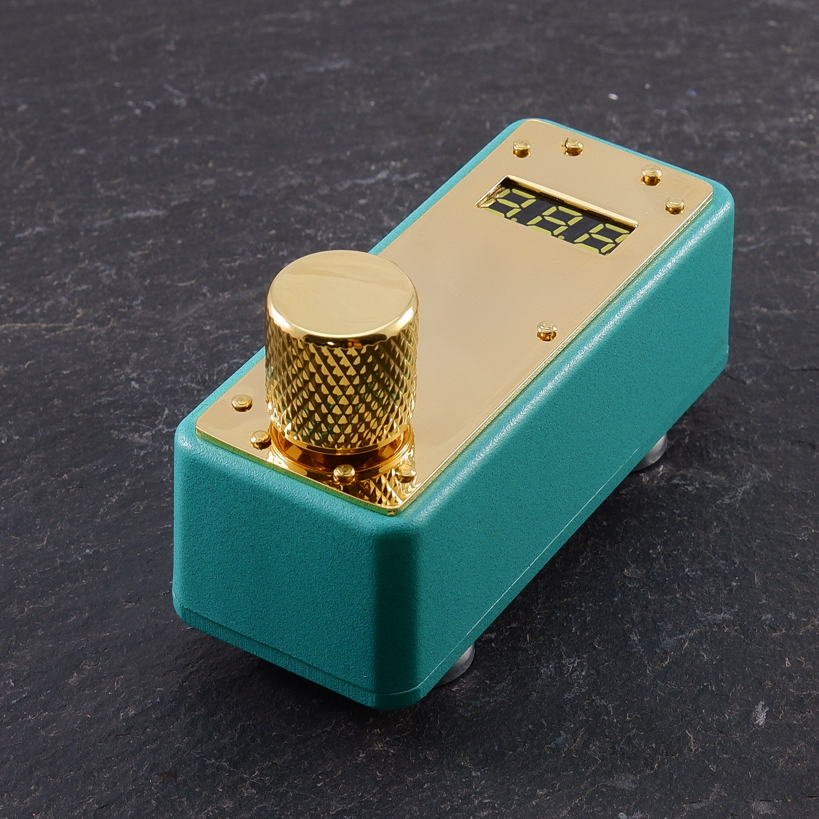 Textured Turquoise Gold plate