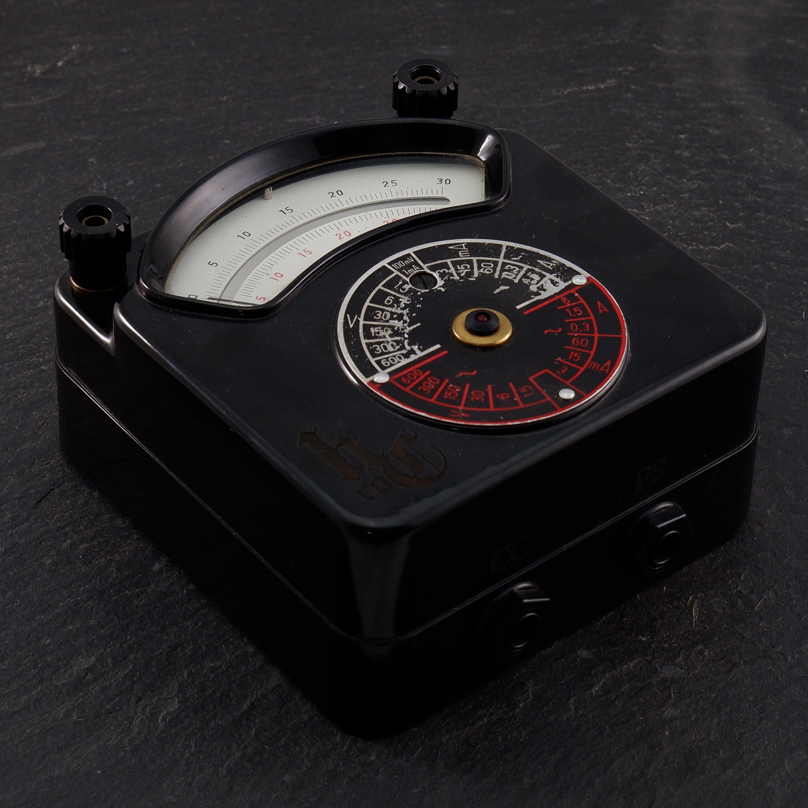 Black Vintage Voltmeter PowerSupply
