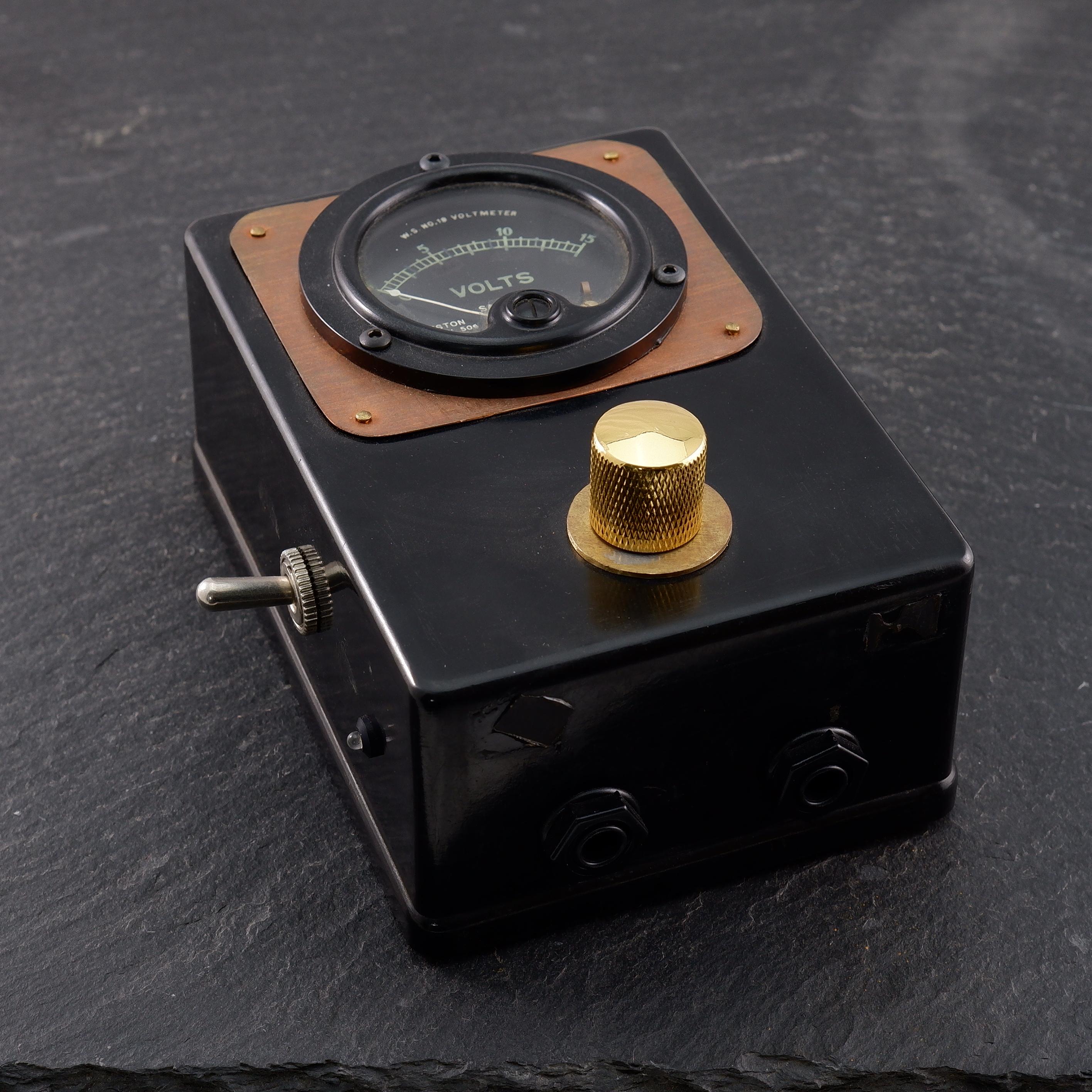 One-off Vintage Voltmeter PowerSupply