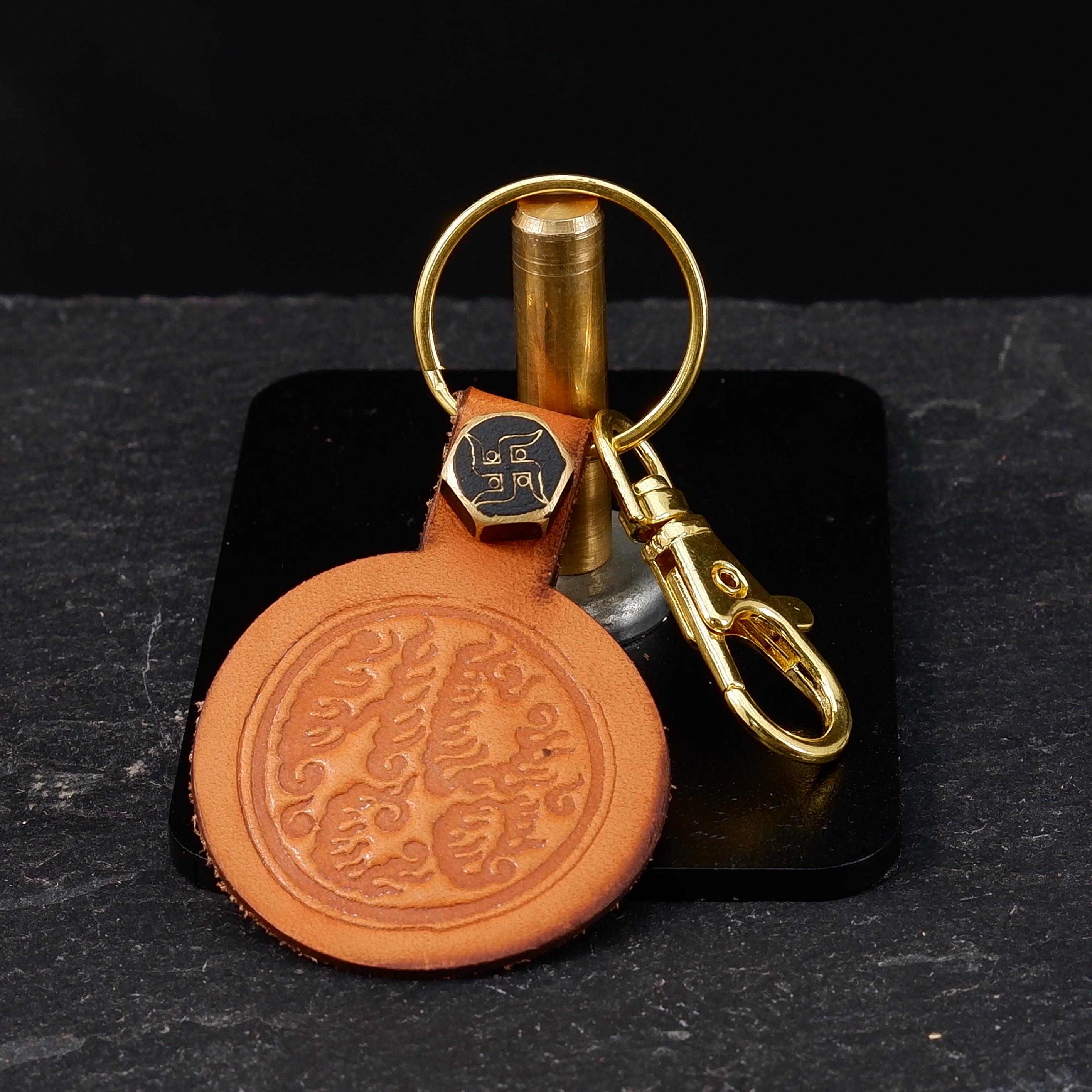 HCCO Leather Keychain Logo