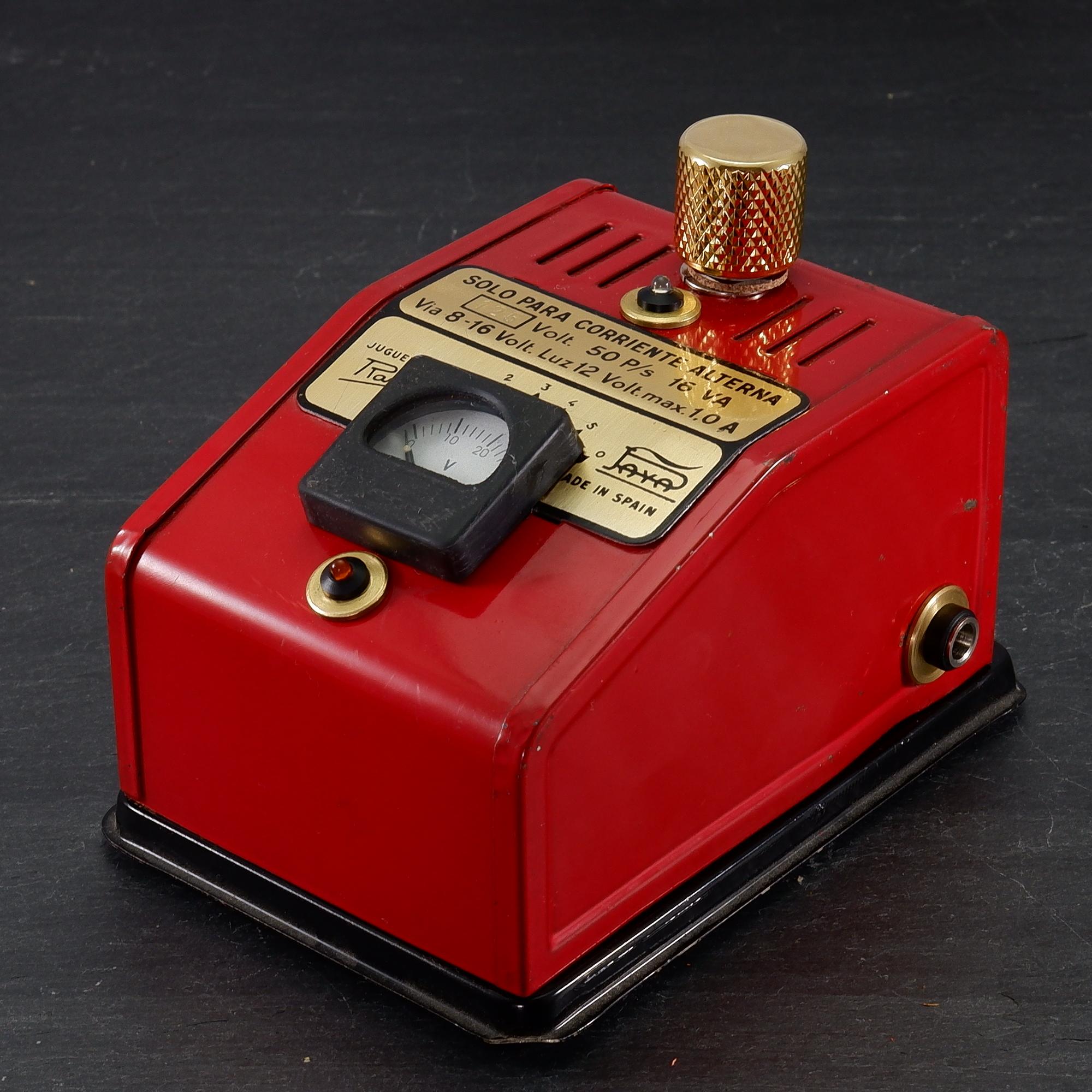 Red Vintage Voltmeter HighVoltage